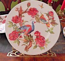 """Andrew Tanner 'PEACOCK ROSE' Lrg Dinner Serve Plate/s 12"""" Royal Stafford Platter"""