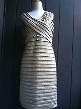 Designer Dress Cartise size 14 Light Gold