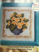 CROSS STITCH CHART Spring Flowers Picture Primrose Flowers Bowl PATTERN ONLY