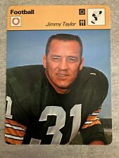 JIMMY TAYLOR 1978 Sportscaster card #17-01 GREEN BAY PACKERS