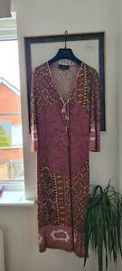 ETRO  paisley pink purple dress Size IT42