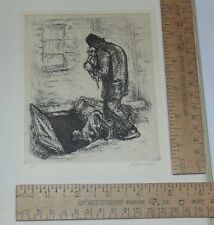 The Painter-Gravers of America First Annual Year Book - Eugene Higgins etching