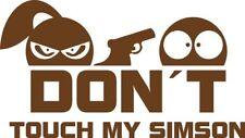 Don´t touch my Simson - Aufkleber Sticker Vinyl Decal Folie Schriftzug Logo