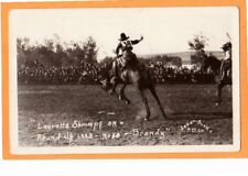 Real Photo Postcard RPPC - Rodeo Cowgirl Lauretta Shrimpf on Brandy 1923