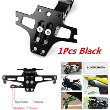1Pcs Motorcycle Aluminum Alloy License Plate Frame Bracket With License Light