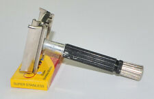 1966 Black Gillette Super Speed DE Razor, NICE VALUE, L-4