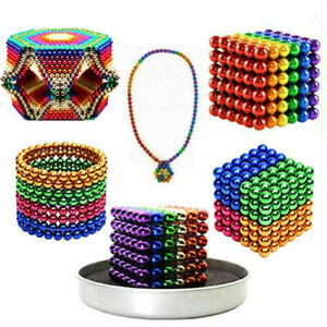 6 Colors 3D Magnets Magic Balls Beads 3mm 5mm Puzzle Ball Sphere Magnetic Toys