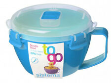 Sistema Azul klip-it Microondas Fideos Pasta Cuenco Sopero 940ml Almuerzo Snack
