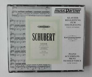 CD x 3 - Schubert - Lieder - Piano Accompaniment to Solo Voice - Kammerlander
