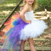 Kids Girls Unicorn Fancy Dress Party Tulle Tutu Princess Cosplay Costume Summer