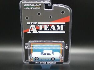 2020 GREENLIGHT 1981 DODGE DIPLOMAT THE ATEAM HOLLYWOOD SPECIAL EDITION 1:64