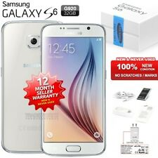 New Sealed Unlocked SAMSUNG Galaxy S6 SM-G920F White 4G LTE Android Mobile Phone