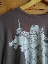 Ames Bros! *Bigfoot riding a Unicorn* Vintage Brown Sasquatch - Men's Size L
