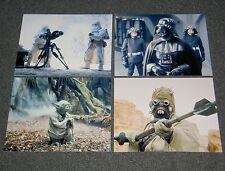 SET OF FOUR STAR WARS 10 x 8 PHOTO'S,BARGAIN LOT,SET.FREE POSTAGE! 15