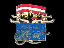 Cheerleading Team Cheer Spirit Lapel Pin - BOLD & PATRIOTIC