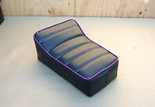 "10"" x 7"" BLACK/PURPLE MINIBIKE SEAT BOBBER SCOOTER MINI BIKE PAK JAK PONY POWELL"