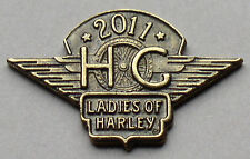 LADIES OF HARLEY DAVIDSON OWNERS GROUP HOG LOH 2011 VEST JACKET HAT PIN 11