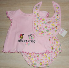Baby Mädchen 💕 Sommer Set 💕 3tlg 💕 Shirt Hose Lätzchen 💕 BIENE 💕 68/74  NEU