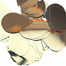 "Gold Shiny Metallic Sequins Teardrop 1.5"" Large Couture Paillettes"