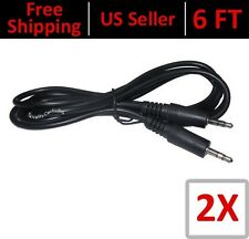 6 FT 3.5mm Auxiliary Aux Male to Male Stereo Audio Cable PC iPod MP3 Car -2 Pack