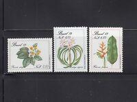 Brazil 1989  Flower Sc 2168-2170  Complete  Mint Never Hinged