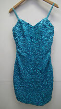 BNWT Turquoise Sequined and Ruched Evening /Prom Dress by Alyce Designs size 6