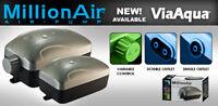Air Pump One Outlet for Aquarium Fish Tank Upto 30 Gallon w/ Adjustable Air Flow
