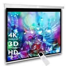Heimkino Beamer Motor Leinwand 244 x 183 cm 4:3 16:9 Leinwand 3D 4K LCD DLP LED