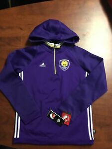 Orlando City SC Soccer Adidas Travel Quarter-Zip Hoodie $65 Youth Medium M