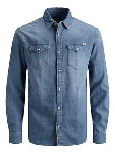 Mens Jack & Jones Sheridan Denim Shirt - L/S