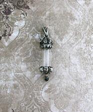 Vanitas Vial Pendant - Memento Mori Mourning Jewelry Skull Death Black Bead