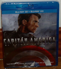 Captain America The First Avenger Blu-Ray 3D + Blu-Ray Neu (Ohne Offen ) R2