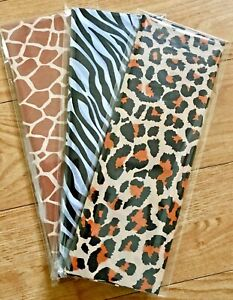 New Animal Print Tissue Paper Various Designs (4 Small Sheets 35 x 50cm)