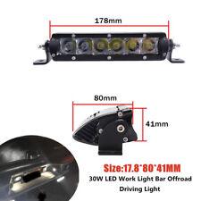 "7"" Car Truck Work Light Bar Spot Driving LED Fog Light Single Row Off Road Part"