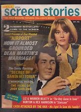 Screen Stories October 1969 Dean Martin Judy Garland Johnny Cash Liz Taylor