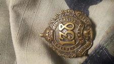 WW1 WWI CEF Collar Badge - 138th Battalion - Maker Marked