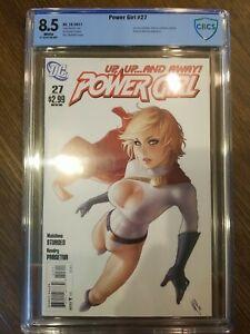 Power Girl #27 CBCS 8.5 WP 2011 Warren Louw cover Last Issue!