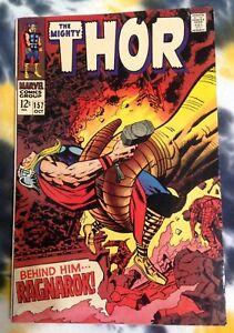 THE MIGHTY THOR #157 (1968) fine / Ragnarok - Kirby- Marvel Comics