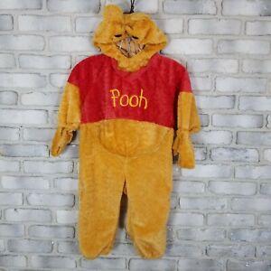 Winnie the Pooh Bear Disney Store Kids Halloween Costume Size XSS Yellow Orange