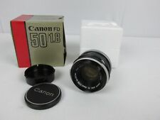 CANON FL 50mm 1:1.8 LENS Vintage Canon Camera Lens in FD Box EXCELLENT Japan