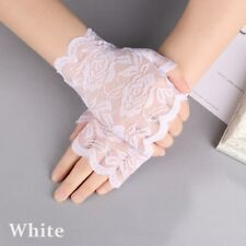 2018Women Evening Bridal Wedding Party Dressy Lace Fingerless Gloves Mittens