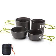 Outdoor Backpacking Cooking Picnic Bowl Pot Pan Set Aluminum Camping Cookware
