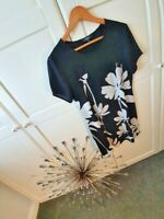 LADIES TUNIC DRESS BY JULIEN MACDONALD  SIZE12 .. BLACK/WHITE HARDLY WORN OFFI