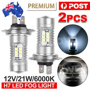 2X Headlight Globes H7 LED 12V 21W Xenon 6000k Car White Front Fog Light Bulbs
