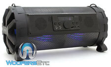 "SOUNDSTREAM CANNON 6.5"" SUBWOOFER PORTABLE BLUETOOTH SPEAKER SD RADIO AMPLIFIER"