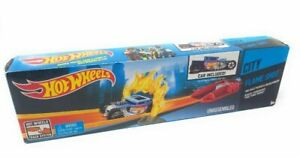Hot Wheels City Flame Shot Action Launcher Track Piece Car Included Mattel New