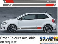 VW Volkswagen Polo GT Side Stripes Graphics Stickers Decals Transfers