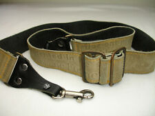 LEATHER CAMERA NECK STRAP with letters, Vintage #002991