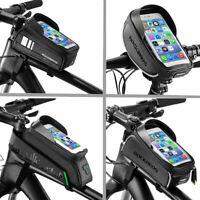 ROCKBROS Waterproof Bicycle Frame Top Tube Bag Touchscreen Bike Phone Bag