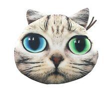 Lagiwa® Porte-monnaie Tête Animal CHAT B en tissu avec fermeture éclair + 1 KDO